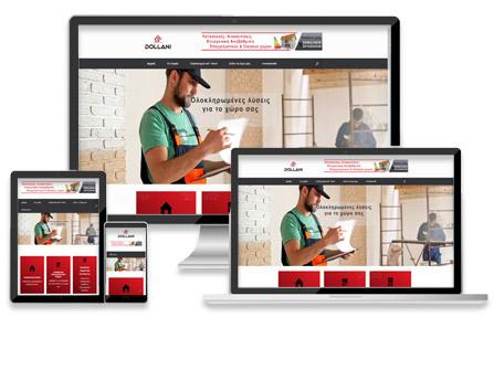 κατασκευή ιστοσελίδας εταιρίας ανακαινίσεων webforce Λάρισα